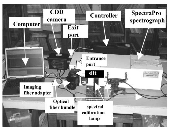 Experimental setup of the spectrograph